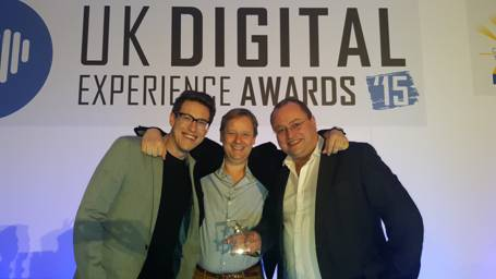 (Kris Rawcliffe, Account Manger; Andrew Hull, Strategy Director; Paul Swaddle, CEO, Pocket App)