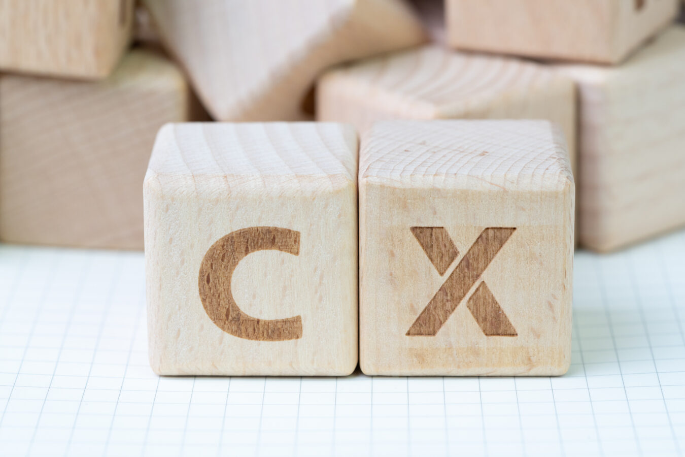 an image showing the letters of C and X indicating customer experience programme