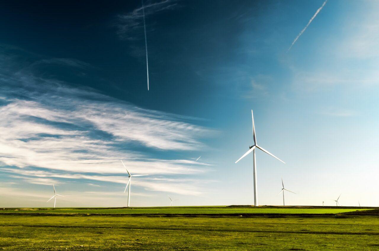 Wind turbines give a glimpse of a renewable future.