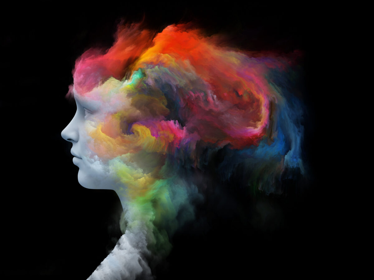 an image showing colourful brain illustrating emotional intelligence and CX
