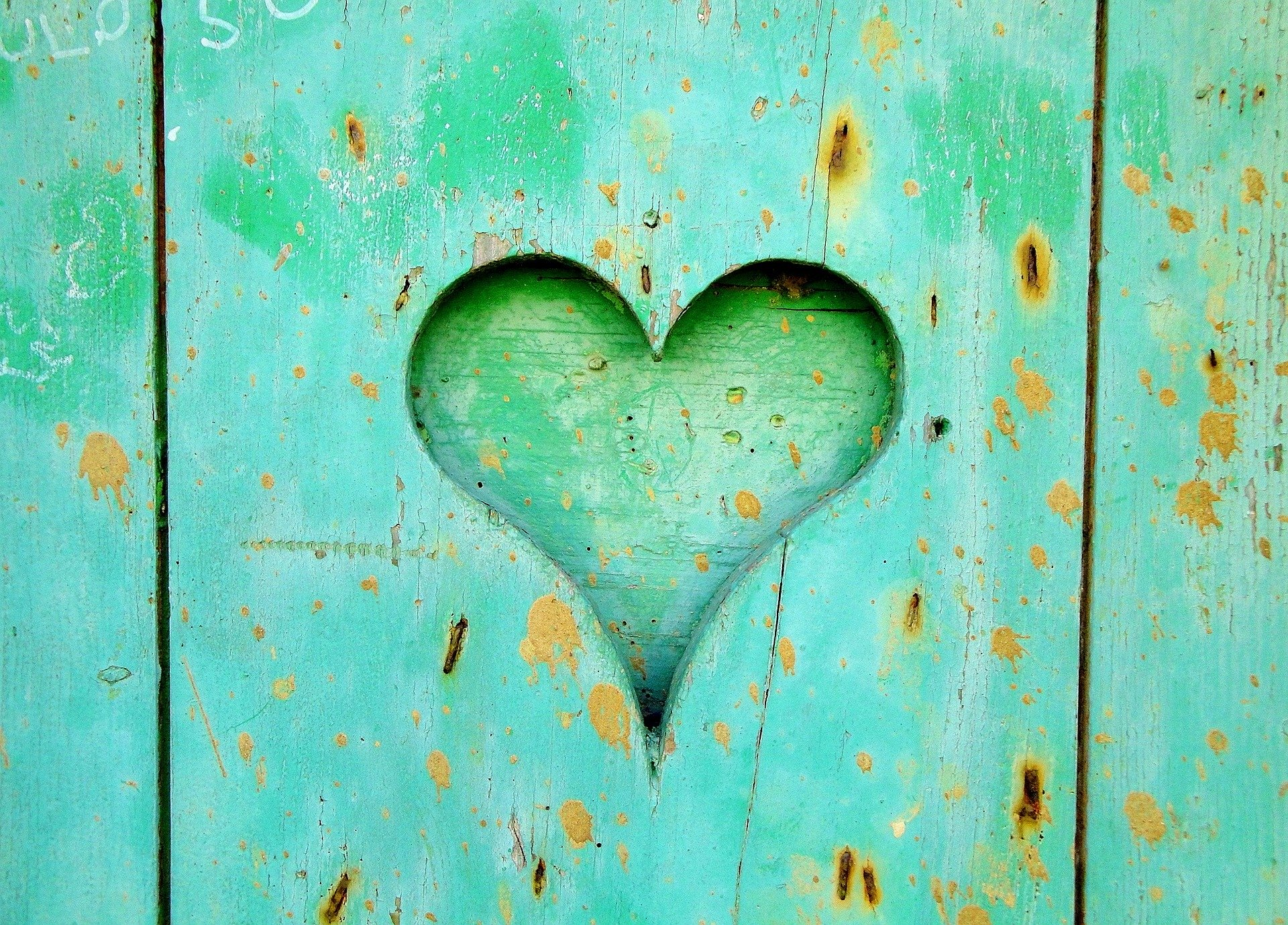 An image in green showing a heart in the door refering to the love for customer complains