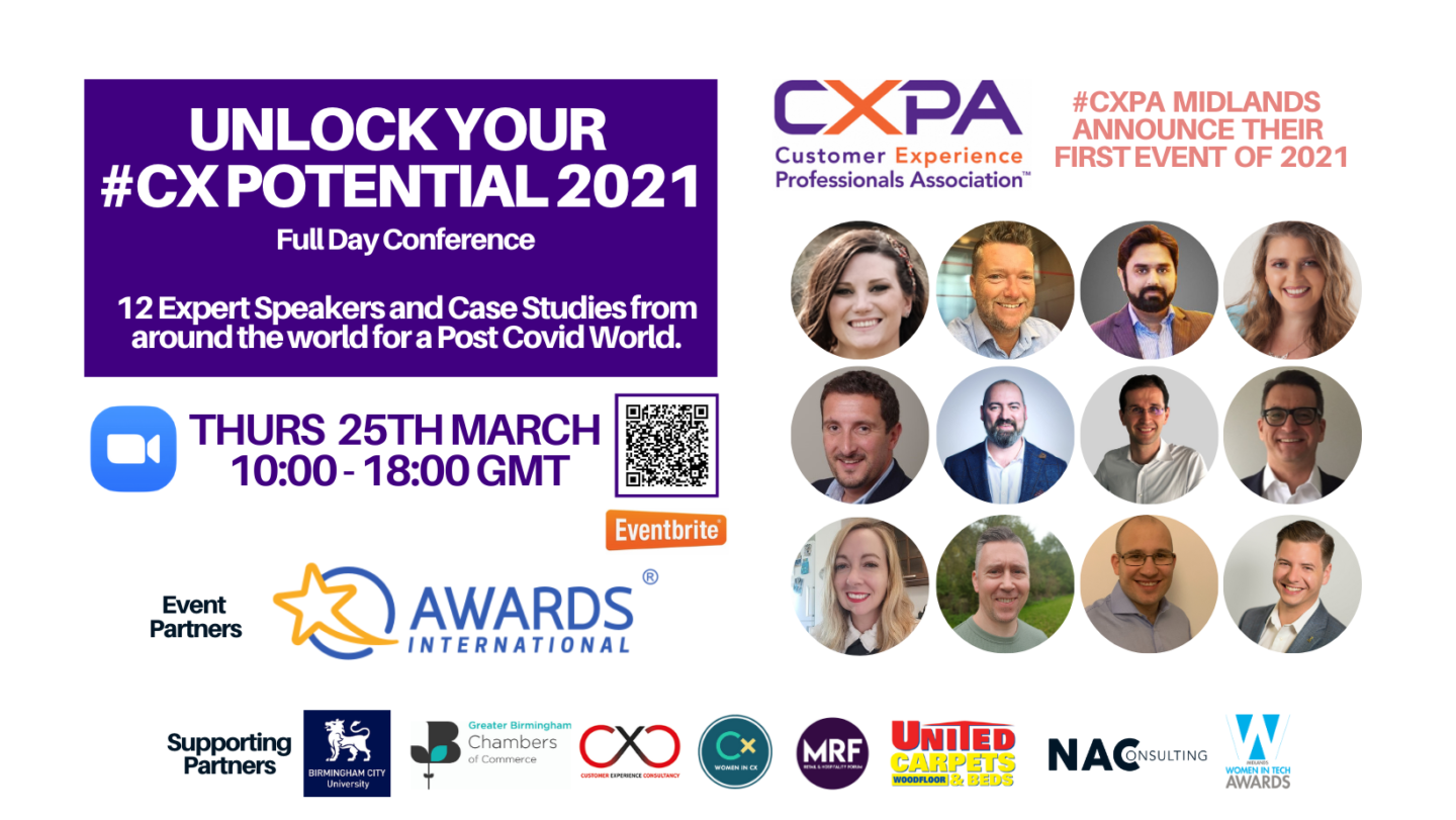 The banner shows the pictures of leaders and practitioners in the industry who can help you unlock your CX potential.