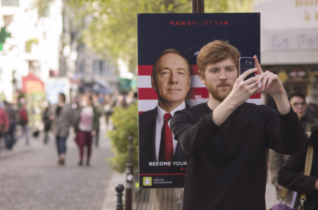 A man uses an app to swap face with his favourite film character.
