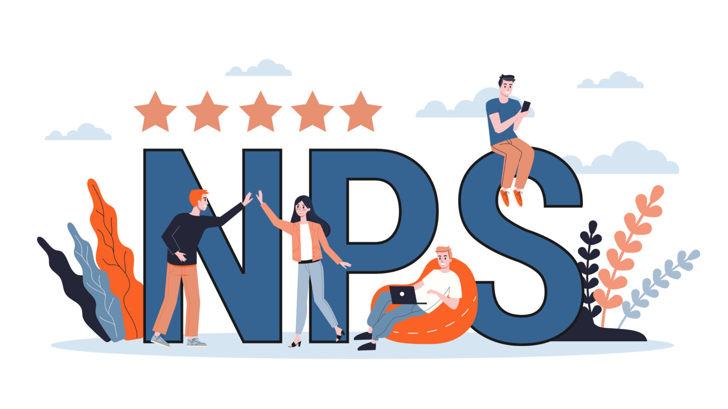a vector picture showing big sign of NPS advantage