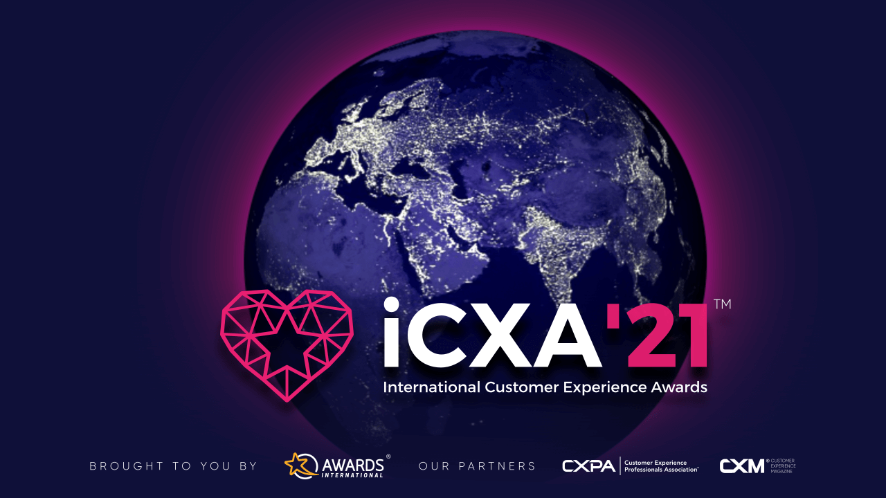 an image showing the planet of international customer experience awards