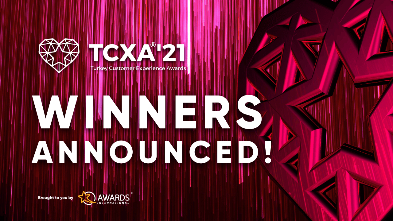 An image showing the winners' announcement during the first turkey CX awards