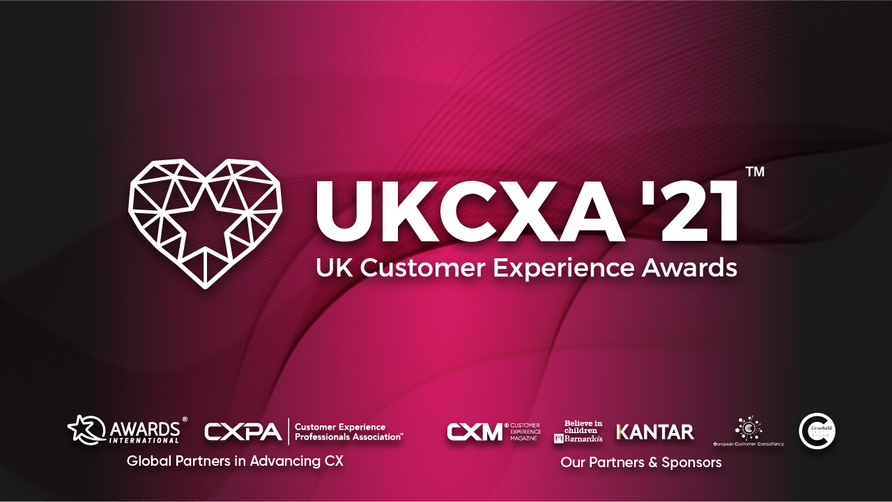 Customer Experience Awards banner shows partners and other details about the event.