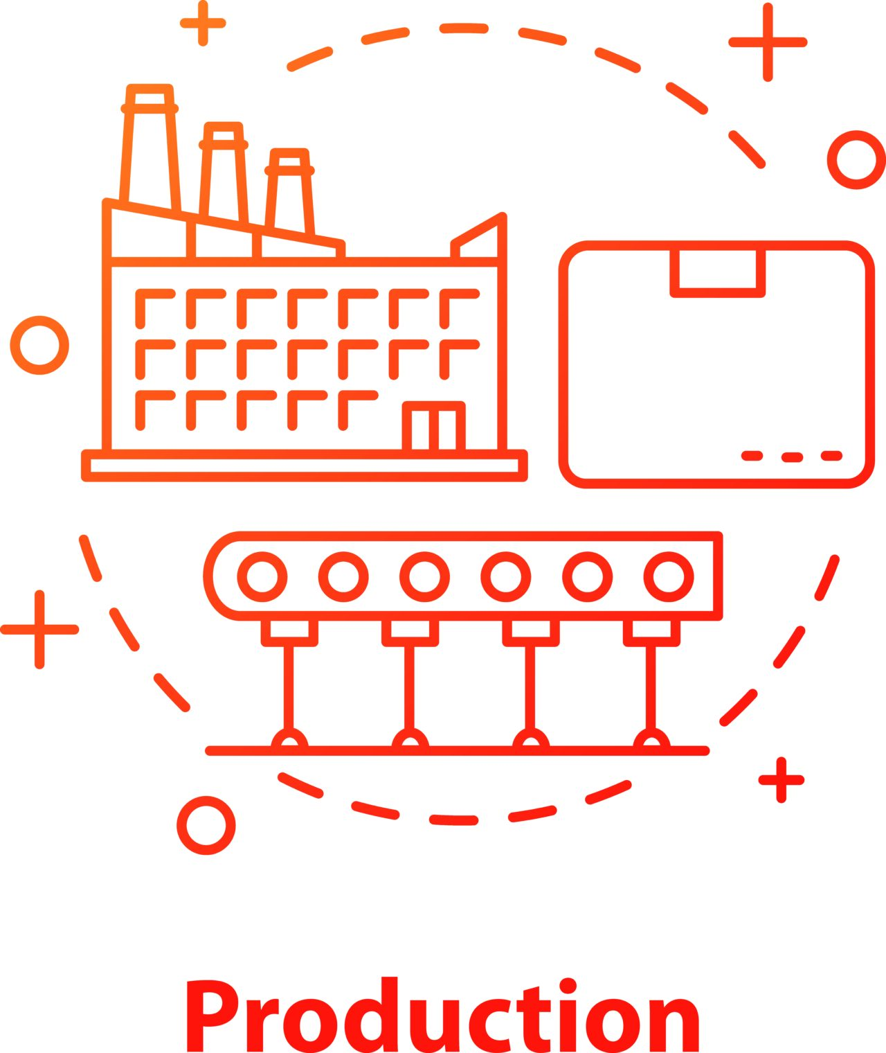 An illustrated image showing how the pandemic is enforcing digitalization in the manufacturing industry.