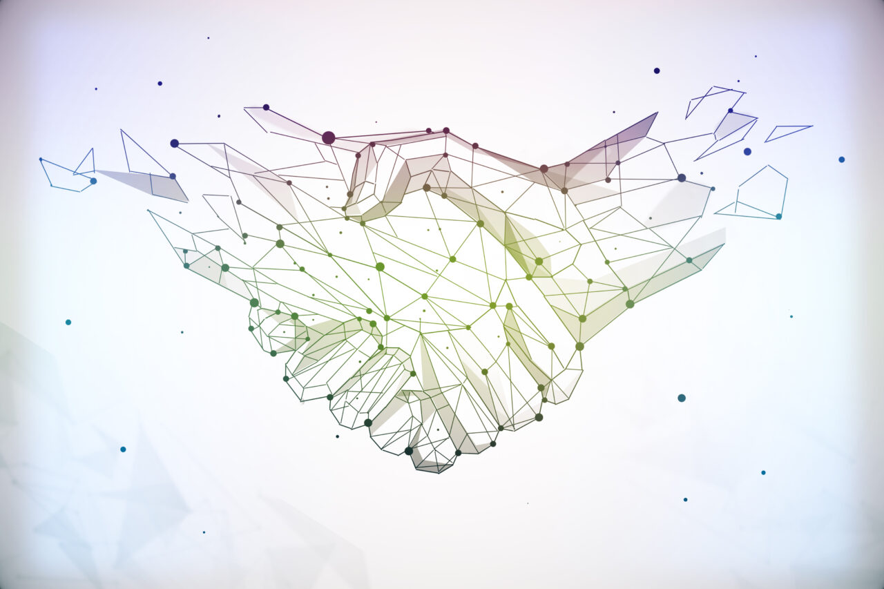 An image showing people shaking hands to build a trusting customer relationship