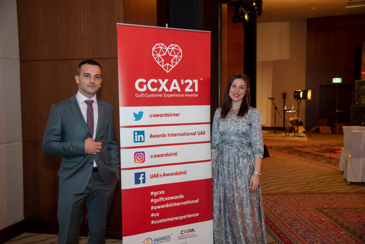 The Awards International team at the GCXA in 2020 posing for a photo.
