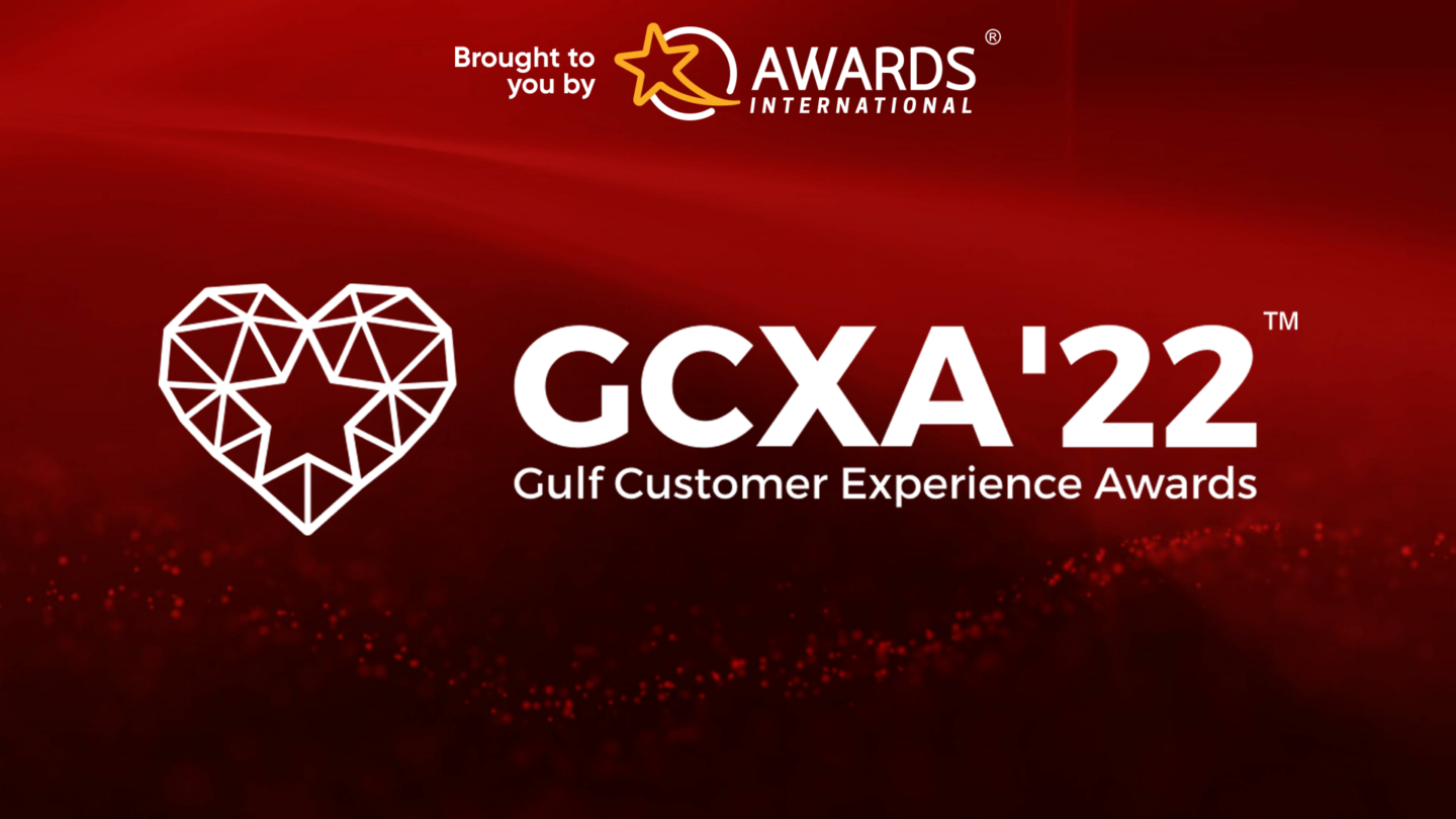 A photo with a logo of the Gulf Customer Experience Awards.