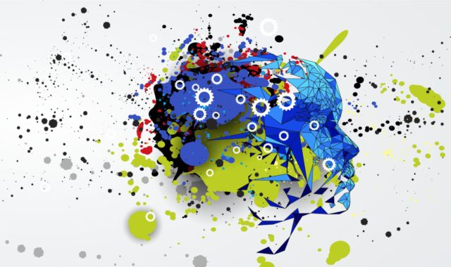 an image showing colourful brain looking at the future of work