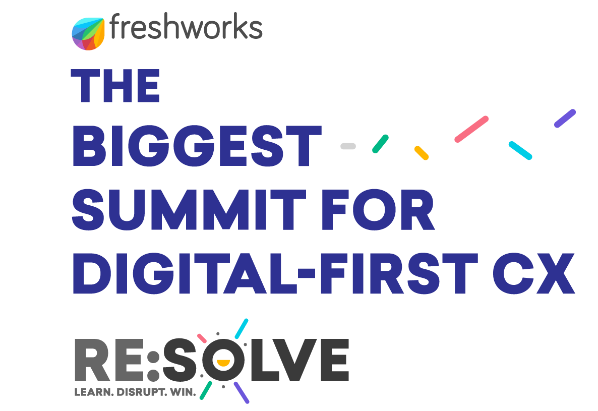 A banner shows the name of the digital-first CX summit
