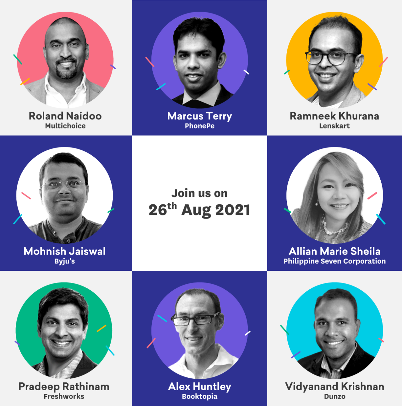 A photo shows speakers at the summit who will talk about the digital-first CX.