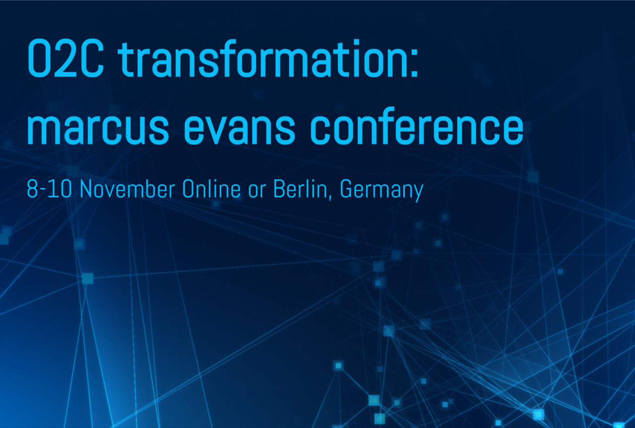 The photo shows the O2C conference headline.