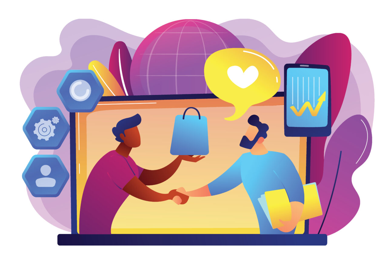An illustration shows an exchange between a buyer and a customer based on zero-party data gathered online.